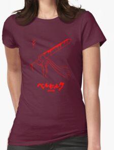 The Black Swordsman - Guts - Berserk - Red Outline Womens Fitted T-Shirt