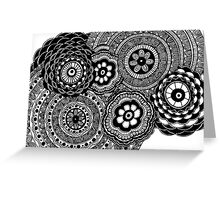 Black and White #1 Greeting Card