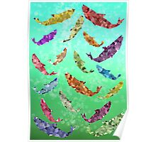 Colorful Fish swimming Poster