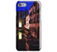 Impressions of Venice - Wandering Around the Small Canals at Night iPhone Case/Skin