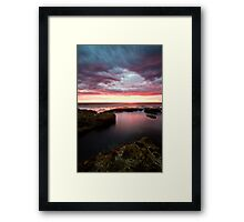 the rewards of getting up at stupid o'clock. Framed Print