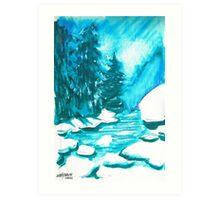 Snowy Creek Banks Art Print