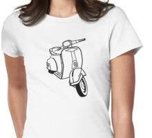Retro Vespa Womens Fitted T-Shirt
