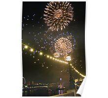 Thames Festival Fireworks Poster