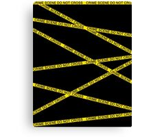 Crime Scene Do Not Cross Canvas Print
