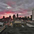 Downtown Cleveland Skyline  by Atheum