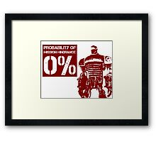 Liberty Prime Mission Hindrance 0% (rust color) Framed Print