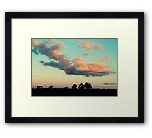 saturday eve Framed Print