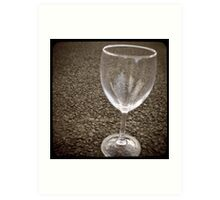 stuff on the road - wine glass Art Print
