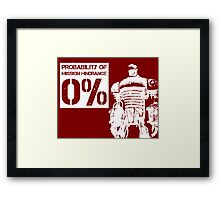 Liberty Prime Mission Hindrance 0% (white color) Framed Print