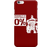 Liberty Prime Mission Hindrance 0% (white color) iPhone Case/Skin