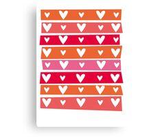 Washi Hearts Canvas Print