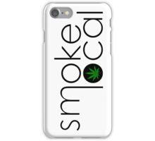 Smoke Local Weed Logo Green Marijuana Leaf iPhone Case/Skin