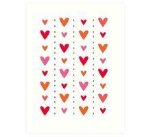 Heart In Line Art Print