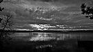 Sunrise In Black & White, Lake Tahoe, California & Nevada by Scott Johnson