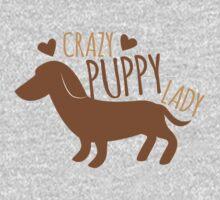 Crazy puppy dog lady Kids Tee
