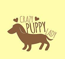 Crazy puppy dog lady by jazzydevil