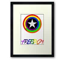 Captain Freedom Framed Print