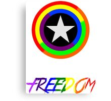 Captain Freedom Canvas Print