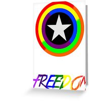 Captain Freedom Greeting Card