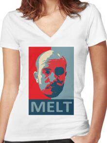 Melt. Women's Fitted V-Neck T-Shirt