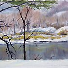 Winter across the St Croix River by RickHansen