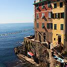 Riomaggiore Harbor by Kent Nickell