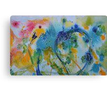 Parrot Nibbling Foliage Canvas Print