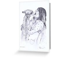 Steve Tyler, Aerosmith Greeting Card