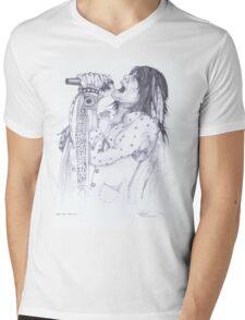 Steve Tyler, Aerosmith Mens V-Neck T-Shirt