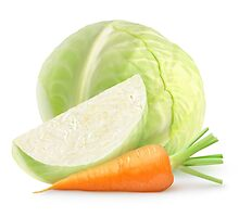 Cabbage and carrot by 6hands