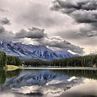 Cascade Mountain & Johnson Lake by Vickie Emms
