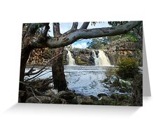 Turpin Falls with trees Greeting Card