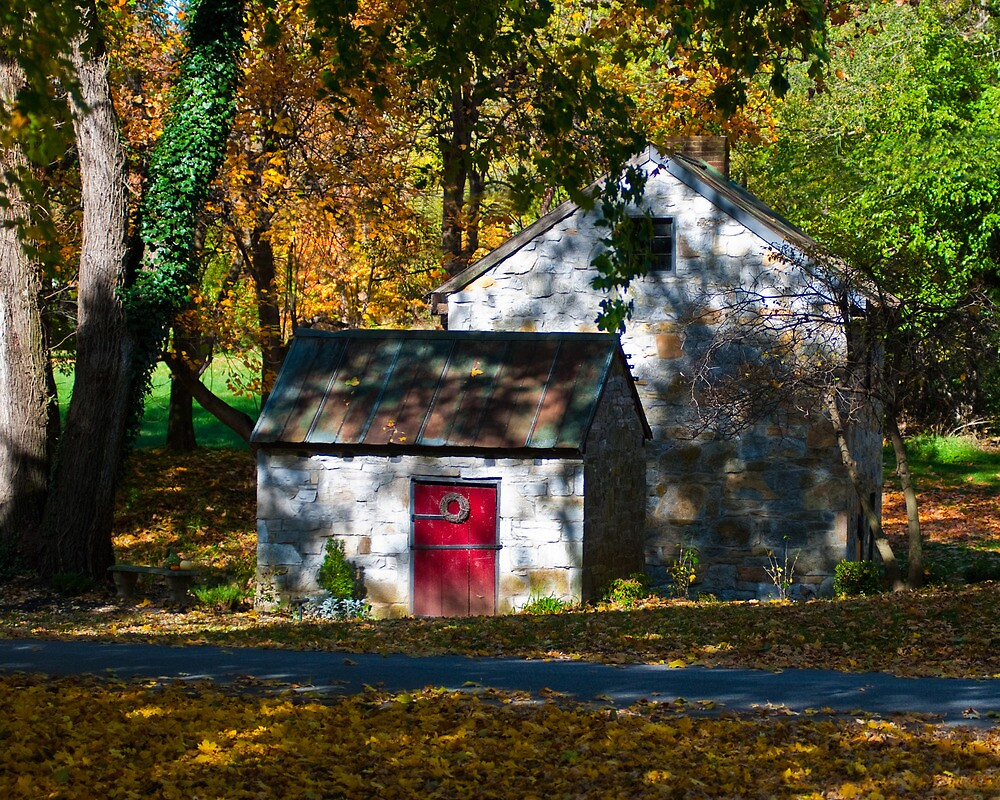 Fall Surrounds the Spring House by ericseyes