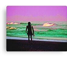 the last wave Canvas Print