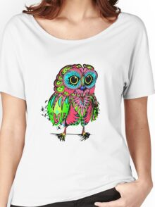 Psychadelic owl ~ Women's Relaxed Fit T-Shirt