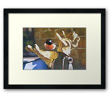 Clap Trap Framed Print