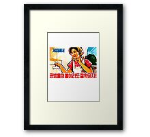 North Korean Propaganda - Plumbing Framed Print