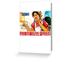 North Korean Propaganda - Plumbing Greeting Card