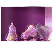 Purple Satin and Silver Bells Poster