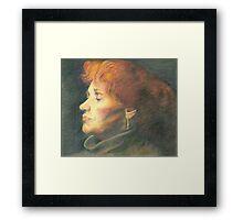 female portrait Framed Print