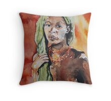 female nude Throw Pillow
