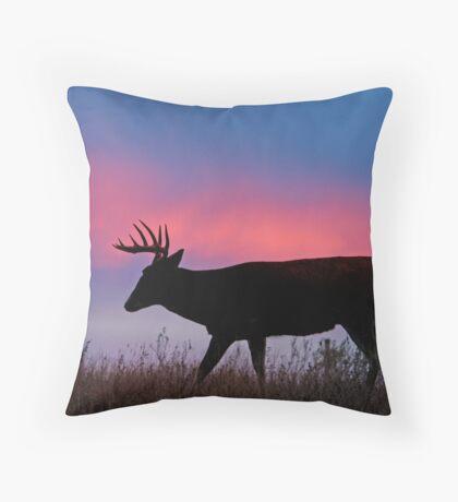 SUNSET WHITETAIL Throw Pillow