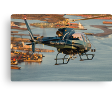 Slave Lake Helicopter Canvas Print