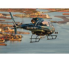Slave Lake Helicopter Photographic Print
