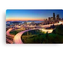Seattle Freeways Canvas Print