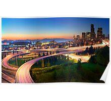 Seattle Freeways Poster
