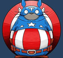 Captain America Totoro by crabro