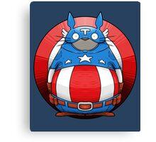 Captain America Totoro Canvas Print