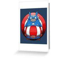Captain America Totoro Greeting Card
